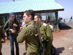 Members of the Israel Defense Forces on the Golan Heights. Will these men take part in the Israel Gaza Conflict?