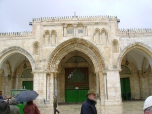 The Al Aqsa Mosque. Under a two state solution, a non-Muslim could not take this picture