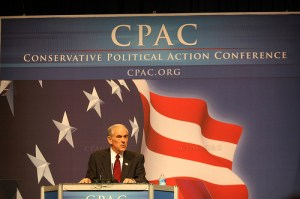 Ron Paul at CPAC. He stepped in it at the CNN Tea Party debate.