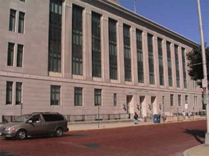 The Fisher Federal Building, home of the NJ District Court, first step toward the Supreme Court
