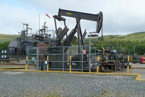 The Kimmeredge oil well. Oil prices depend on the productivity of wells liek these