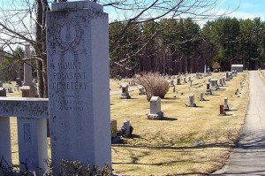 Tombstones. Addresses of dead voters?
