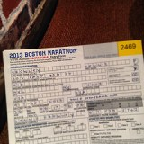 Boston Marathon entry form for 2013