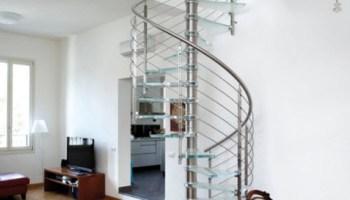 Dise os de escaleras formas y estilos para dise ar y - Escaleras semi caracol ...