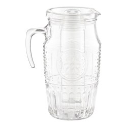 Small Crop Of Glass Pitcher With Lid