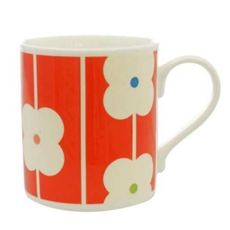 Orla Kiely China Cup Red Abacus