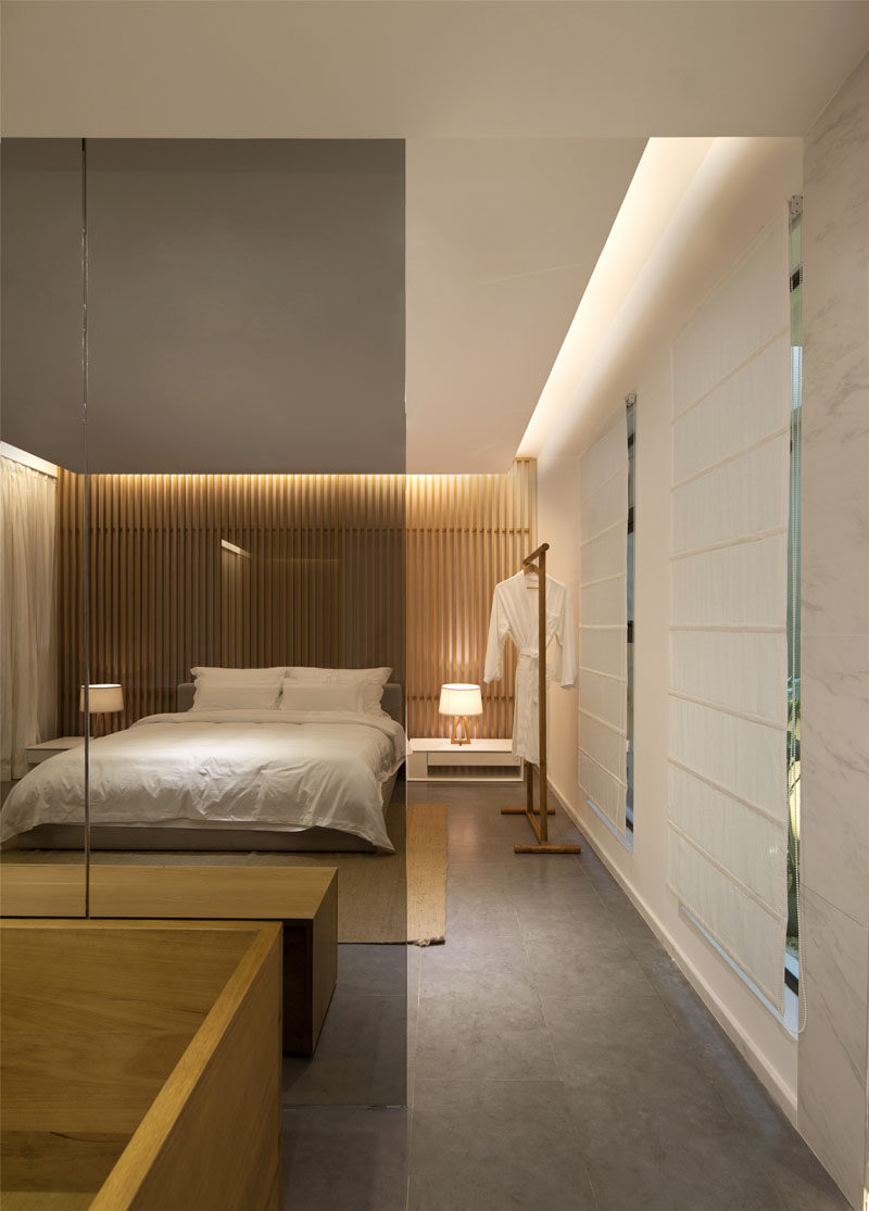 Noble Wooden Cabinet Bathroom A Bedroom Wall Design Idea Create A Wood Slat Accent Wall Contemporist And Wood Slat Wall Helps To Tie Room Toger As Used Aclos Rack houzz-02 Wood Slat Wall