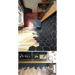 Small Crop Of Black Hexagon Tile