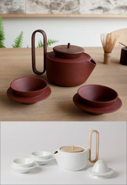 Perfect Se Ceramic Tea Available Multiple Have Tea Cups Withcircular Handles Half Way Down Cup That Wrap Around It To Create A Way Tea Sets To Show Off Your Tea Making Skills Contemporist