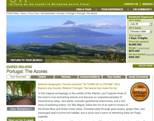Country Walkers, travel content examples, CMI