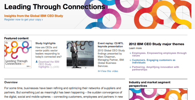 IBM ceo study, conduct research to engage executives, CMI