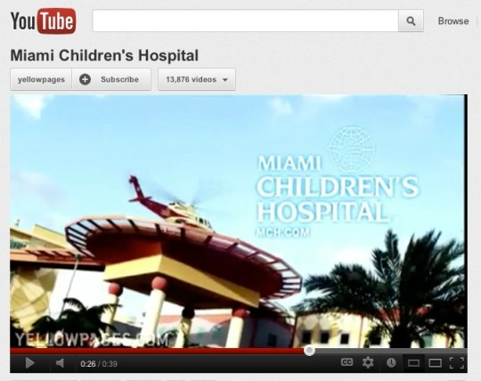 content creators, Miami Children's Hospital