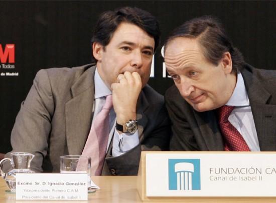 Ignacio González e Ildefonso de Miguel