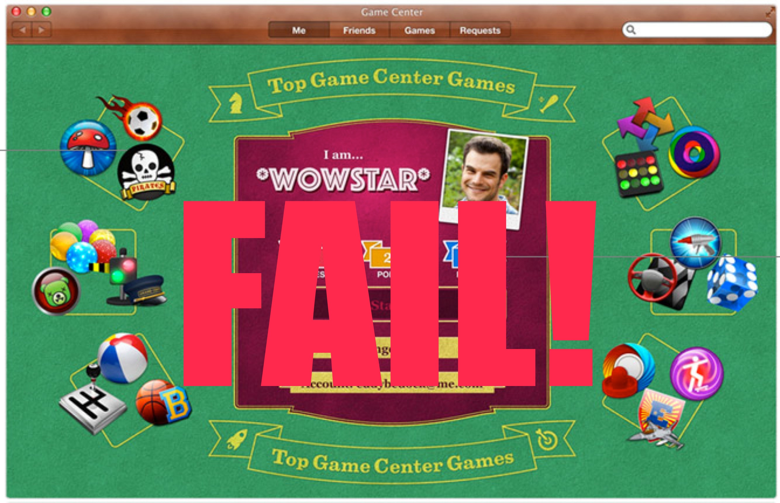 Game Center is not very good