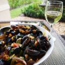 Steamed Mussels with Chorizo Sausage & Tomatoes