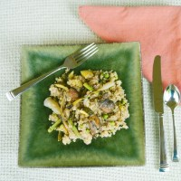 Grilled Spring Onion Quinoa