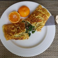 Swiss Chard and Prosciutto Omelet