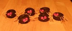 Halloween donut spiders