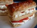 Strawberry and cream slices
