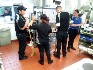 McDonald's Employees Divvying Up the Loot