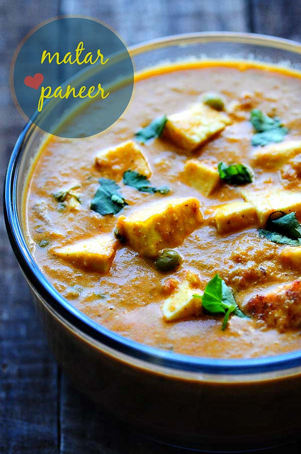 Matar Paneer Recipe - Mattar Paneer - How to Make Mutter Paneer Masala ...