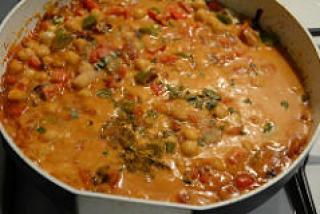 chana capsicum curry recipe-9