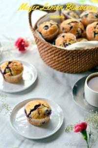 Meyer Lemon Blueberry Muffins
