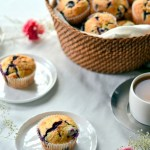 Meyer Lemon Blueberry Muffins