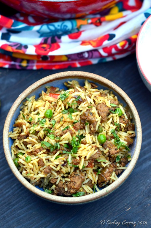 with it – kinda recipe for Keema Biryani with ground lamb and peas ...