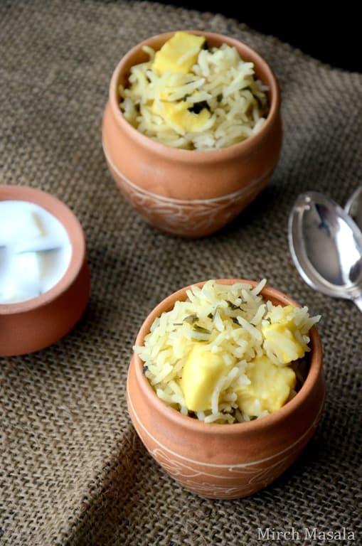 Paneer Methi Pulao - Vegetarian Indian Gluten Free Recipe