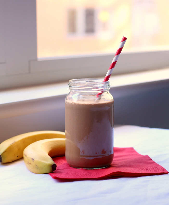 Caffeinated Peanut Butter Banana Smoothie