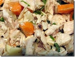 chicken salad with carrots and basil