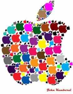 image: artistic apple for Rosh Hashana menu