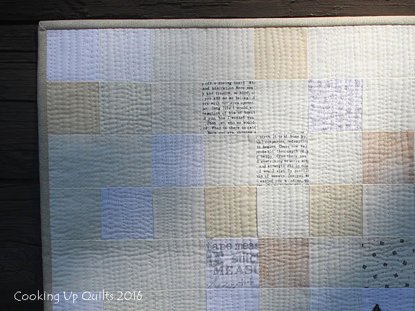 Neutral 2 inch squares pieced background