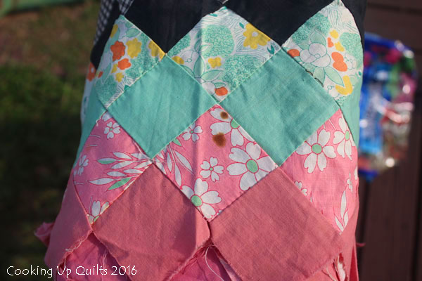 Stained Vintage Quilt