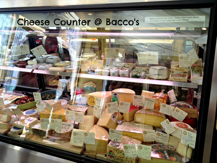 Cheese Counter at Bacco's