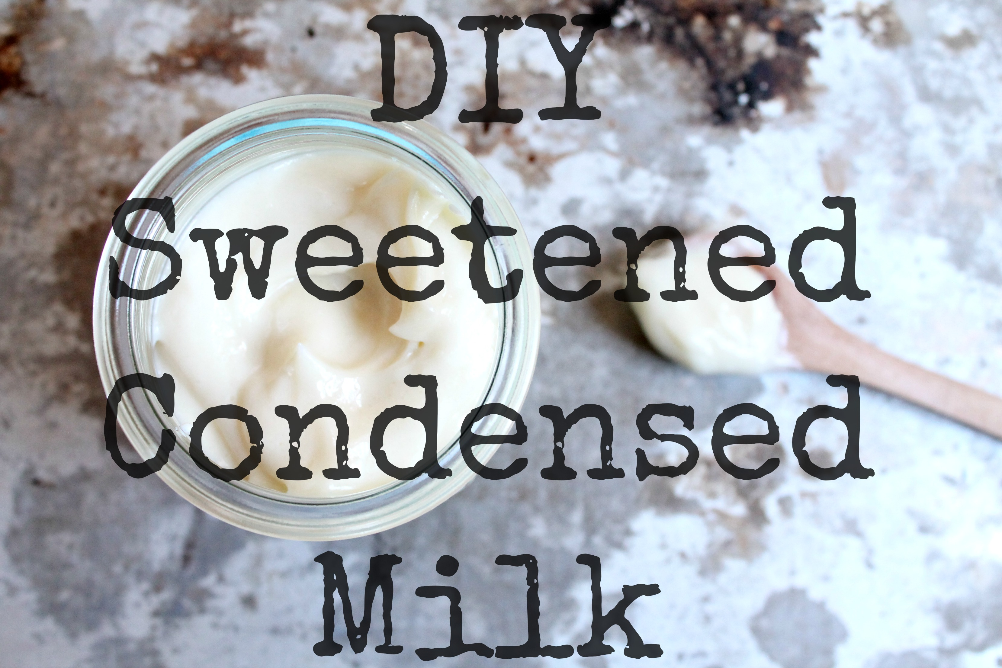 how to make sweetened condensed milk with molasses