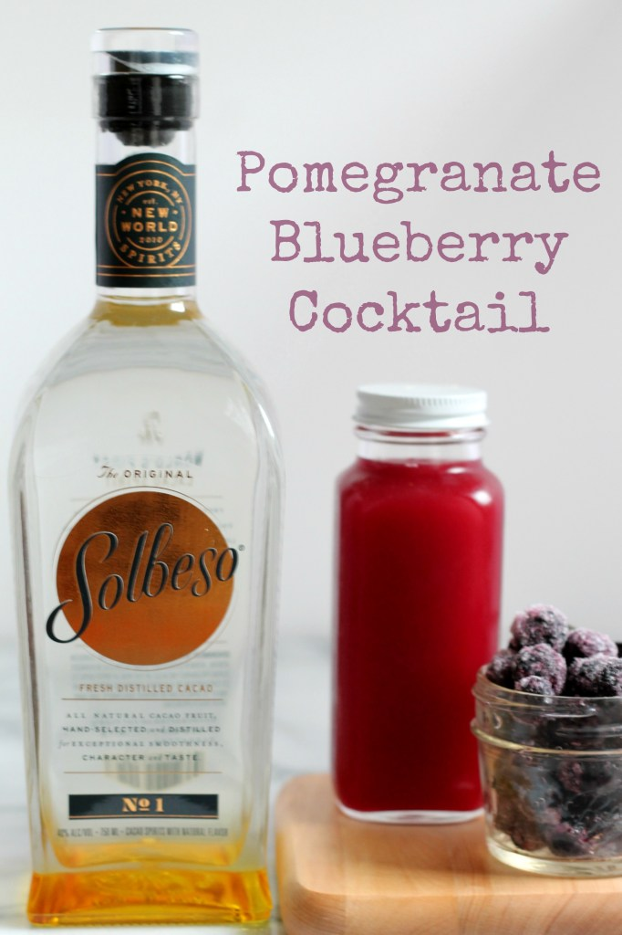 This Pomegranate Blueberry Cocktail is the perfect after-work drink! Easy to make with just three ingredients!