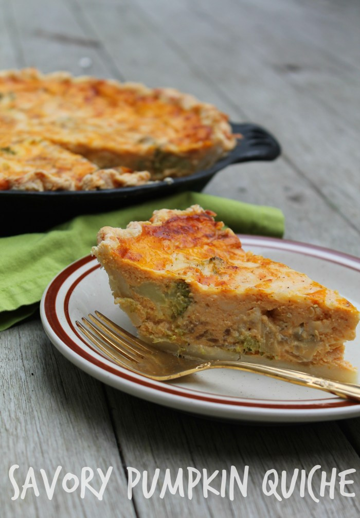 Sliced Savory Pumpkin Quiche