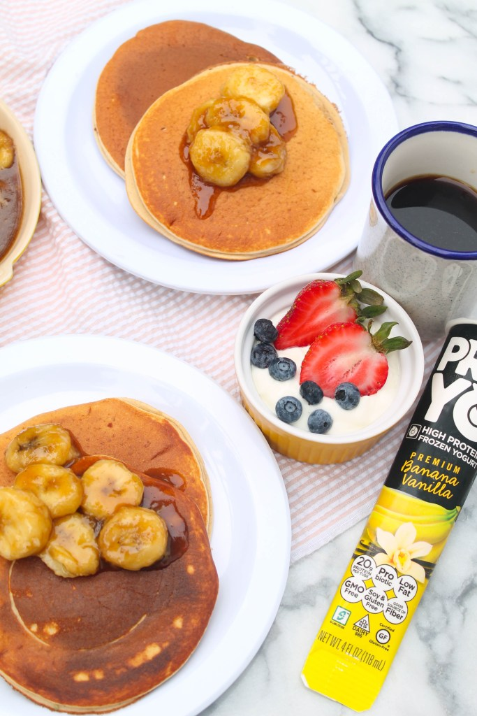 Caramelized Banana Protein Pancakes-1