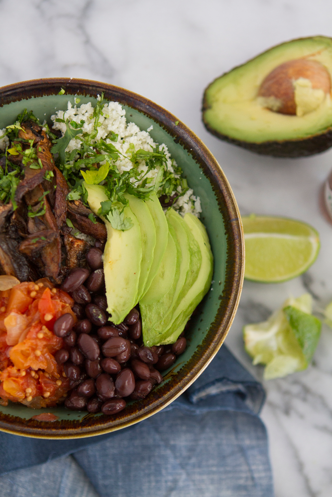 Vegan Cauliflower Burrito Bowl recipe