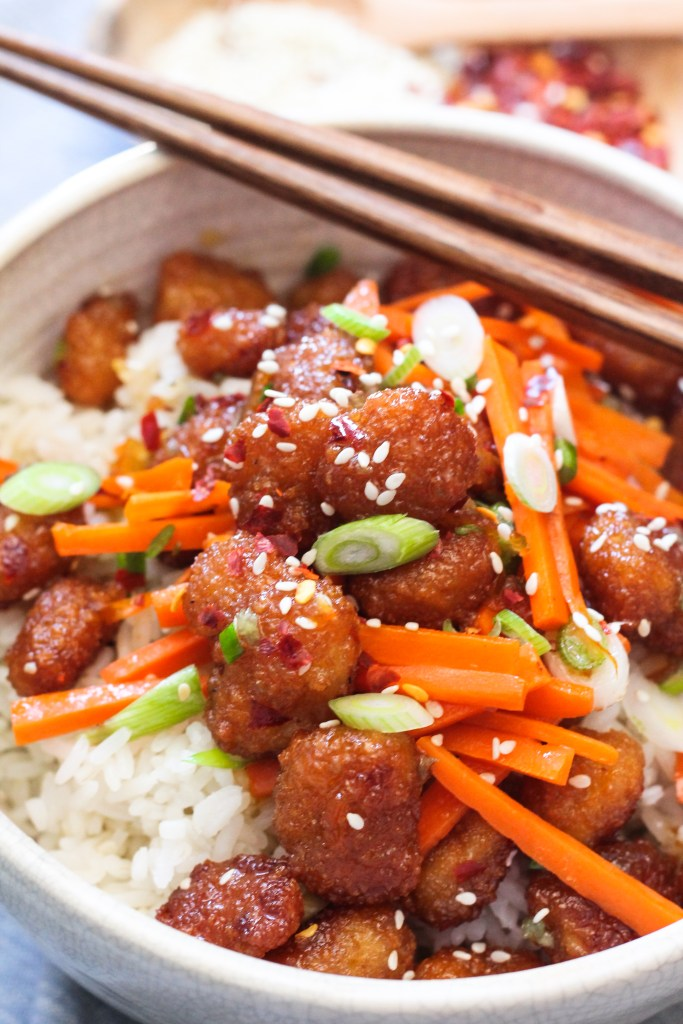 Firecracker Shrimp Rice Bowl recipe-4