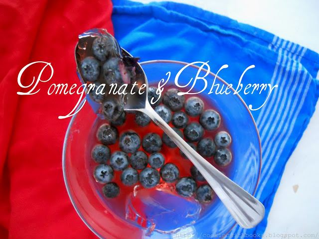 Pomegranate-Blueberry 4th of July Jello