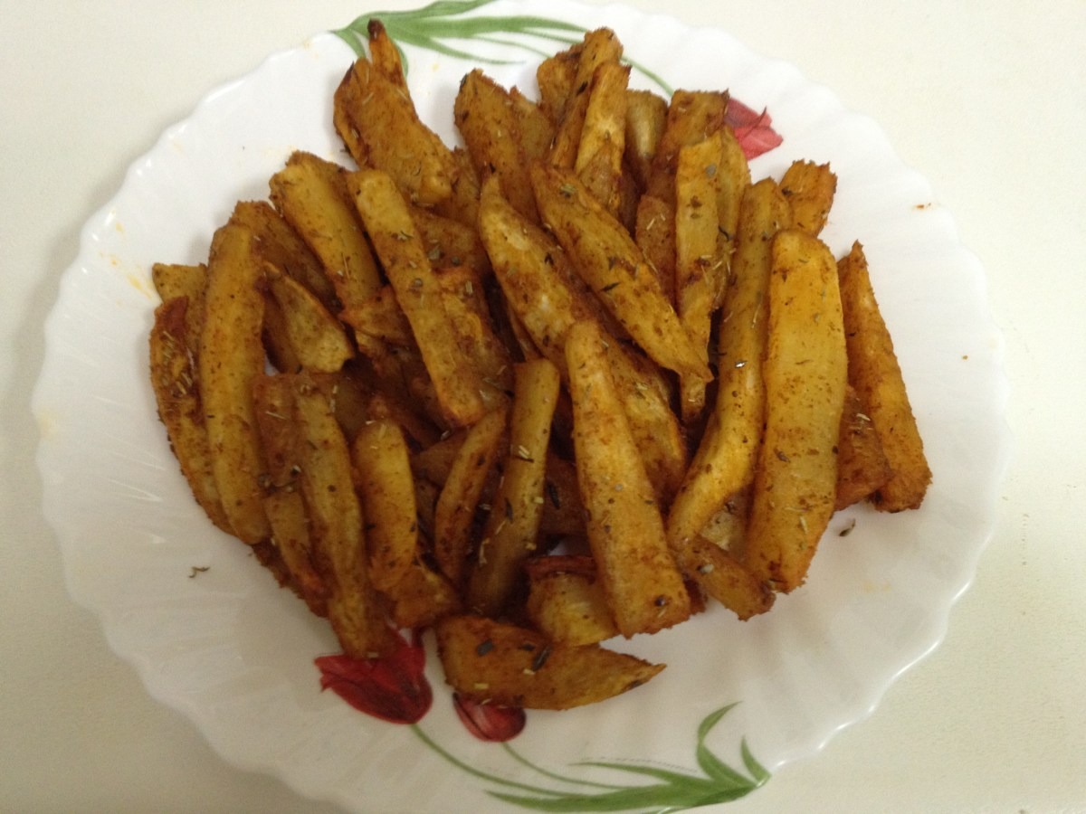 frites de patates douces au four