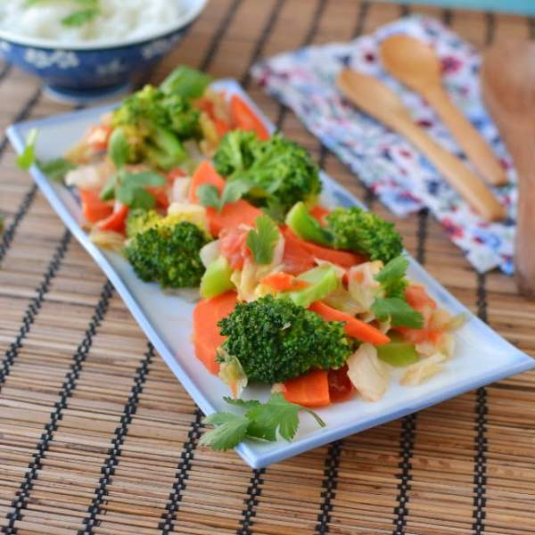 Chhum Han (Steamed Mixed Vegetables)