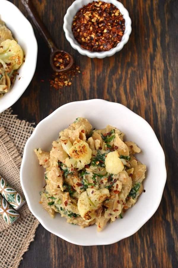 Pasta with Roasted Cauliflower Sauce