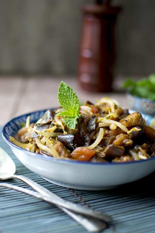 Laotian Eggplant with Tomatoes