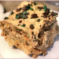 Peppermint Crisp fridge tart - a South African treat