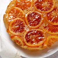 Blood orange and Cointreau upside-down cake