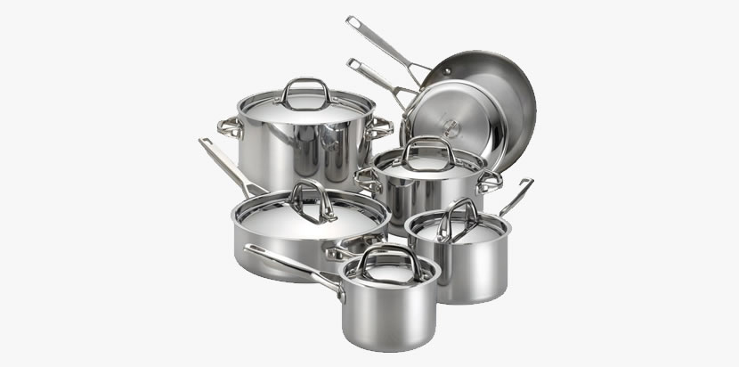 Anolon Tri-Ply Clad Stainless Steel, 12-Piece Cookware Set Review